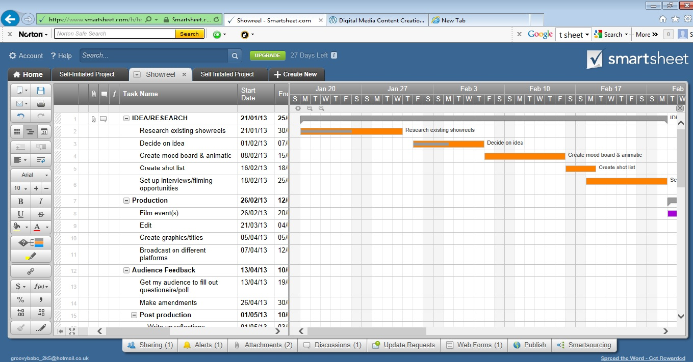 Smart sheet gantt charts to plan my project sophiekitching here is the link to my gantt chart httpssmartsheet bhomelxzgmwdirq9nelpgvvyl9aha geenschuldenfo Image collections